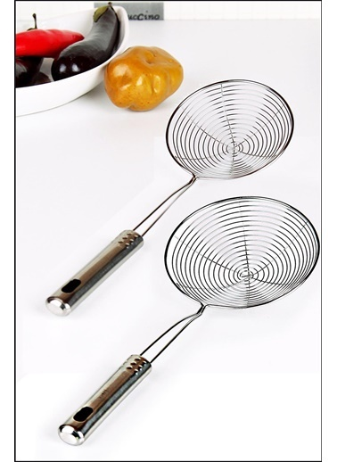 Kitchen Love Çelik 12 Ve 14Cm.Çaplı 2 Boy Yağ Kevgiri Renkli